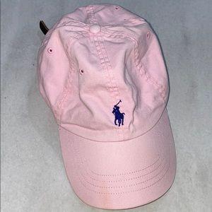 POLO BY RALPH LAUREN pink hat w/ navy blue symbol